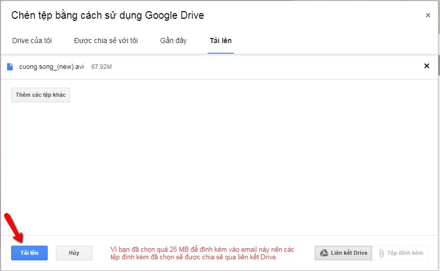 Cách gửi video qua gmail