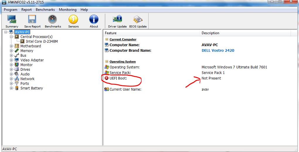 Hướng dẫn cách kiểm tra máy tính có hỗ trợ chuẩn UEFI không?