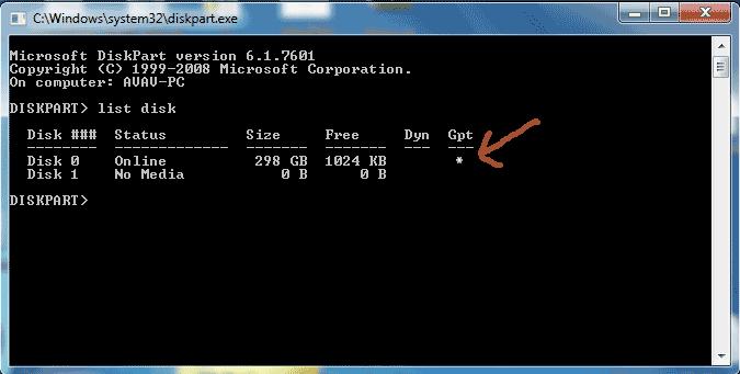 Cách kiểm tra ổ cứng ở định dạng GPT hay MBR