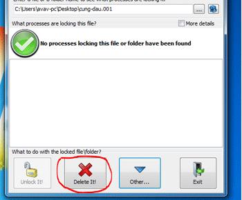 Hướng dẫn xóa file khỏi máy tính cứng đầu với LockHunter