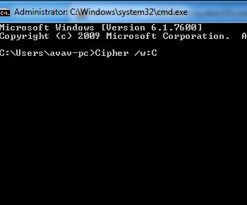 Cách xóa dữ liệu khỏi máy tính vĩnh viễn với DOS trong windows