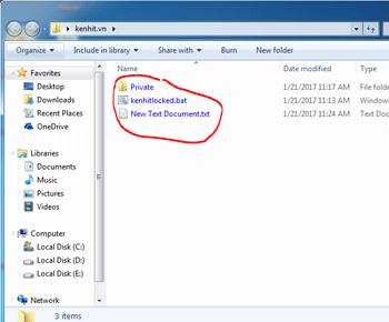 Cách khắc phục lỗi tên file có màu xanh khác biệt