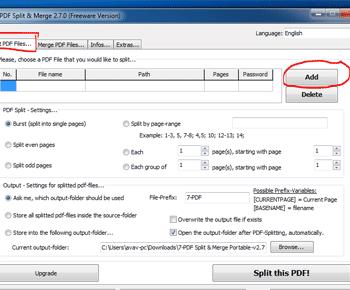 Cách cắt và ghép file PDF bằng phần mềm 7PDF Split & Merge