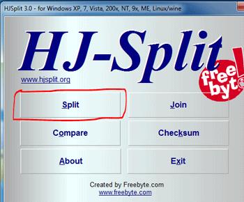 Hướng dẫn cách nối và chia nhỏ file với HJSplit