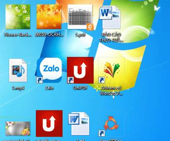 Hướng dấn thủ nhỏ icon màn hình desktop trong windows