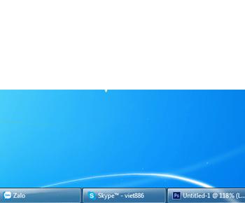 Cách thủ nhỏ thành Taskbar trên windows 7