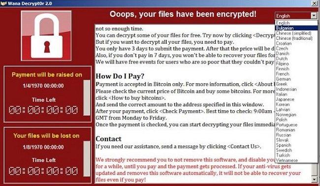 WanaCry 2.0 mã độc tống tiền nguy hiểm có mặt tại việt nam