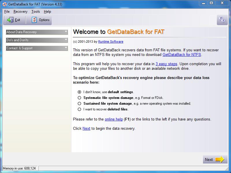 Hướng dẫn tải và cài đặt phần mềm GetDataBack Recovery