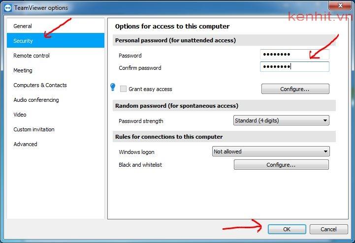 Hướng dẫn cách đặt mật khẩu cố định cho teamviewer