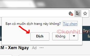 Hướng dẫn cách dịch tiếng anh sang tiếng việt trên google chrome