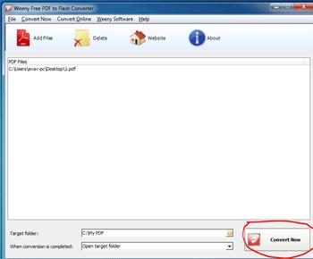 Cách chuyển đổi file PDF sang Flash đơn giản với Weeny Free PDF to Flash Converter