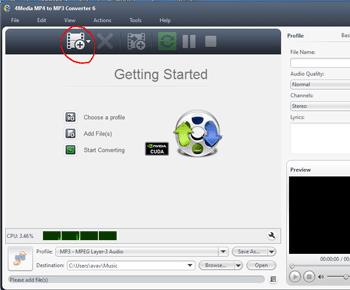 Hướng dẫn sử dụng phần mềm đổi đôi MP4 Sang MP3 Bằng 4media MP4 To MP3 Converter