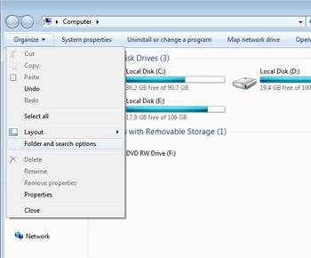 Cách lấy lại dữ liệu khi bị ẩn trong windows 7 8 10