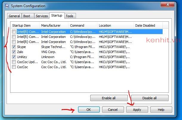 Hướng dẫn cách tắt các ứng dụng chạy ngầm trên windows 7