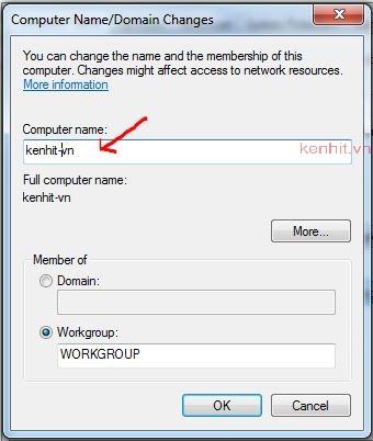 Hướng dấn cách đổi tên máy tính trong windows 7