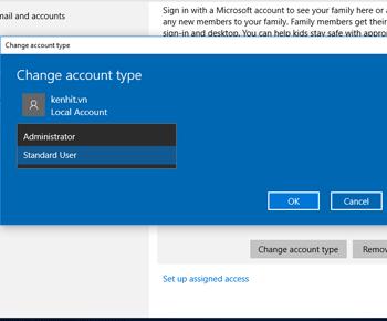 Hướng dẫn tạo User và thay mật khẩu khỉ muốn mở màn hình máy tính windows 10
