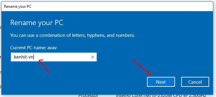Hướng dẫn cách đổi tên máy tính trên windows 10