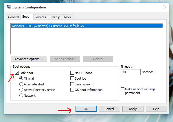 Hướng dẫn cách vào chế độ safe mode trên windows 10