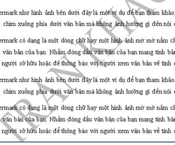Hướng dẫn chèn đóng dấu văn bản với watermark trong word