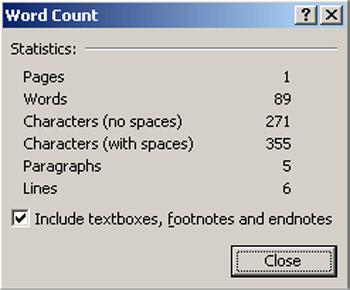 Hướng dẫn thao tác đếm số trang số dòng số ký tự trong microsoft office word