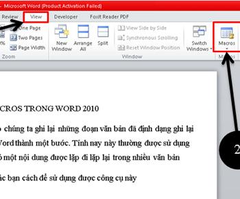 Hướng dẫn sử dụng macros trong word