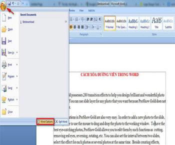 Cách loại bỏ đường viền bao quanh text