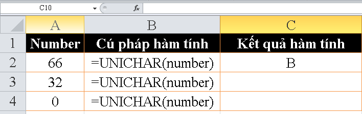 cach-su-dung-ham-UNICHAR-trong-excel-3