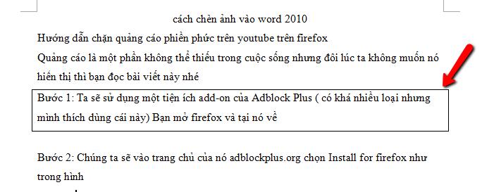 Cách bỏ khung trong word 2003