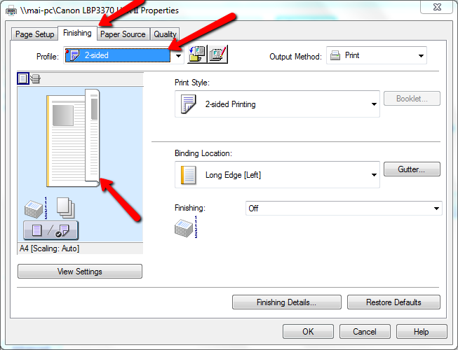 Cách in 2 mặt trong PDF