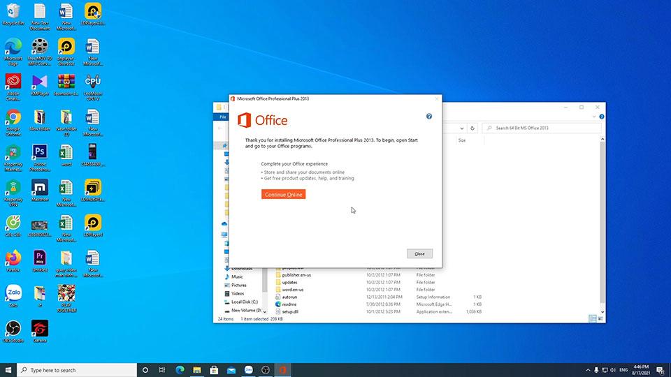 Hướng dẫn tải cài đặt phần mềm word excel trên máy tính | tải bộ cài office 2013