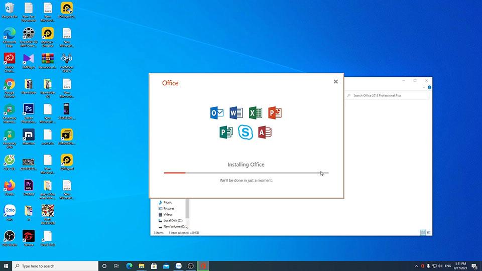 Hướng dẫn tải cài đặt phần mềm word excel trên máy tính PC laptop | Tải bộ cài office 2019